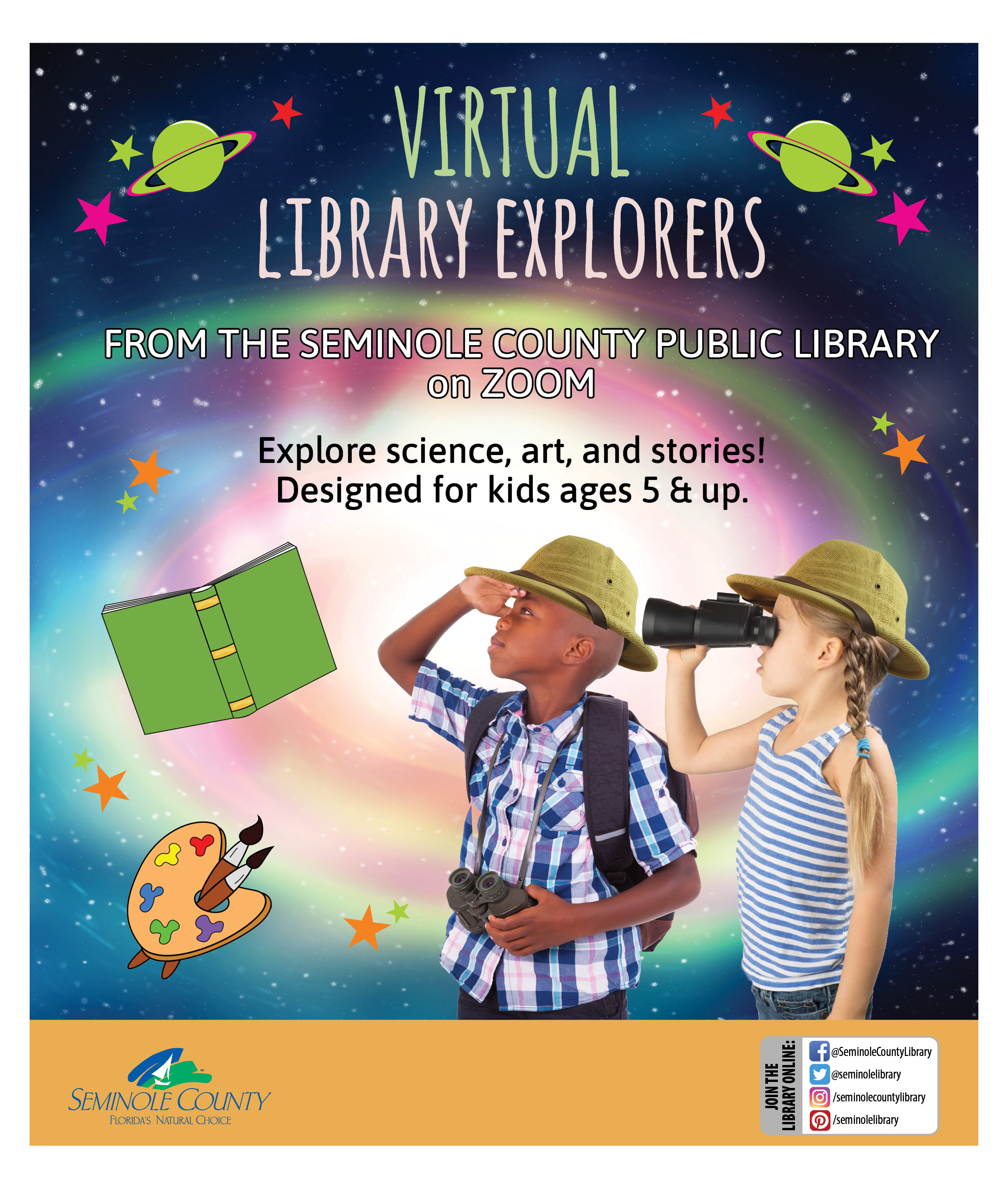 Flyer for Virtual Library Explorers